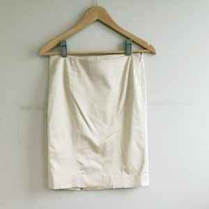 Bebe Italian Sateen Double Split Midi Skirt